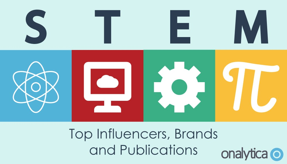 Onalytica STEM top influencers, brands and publications